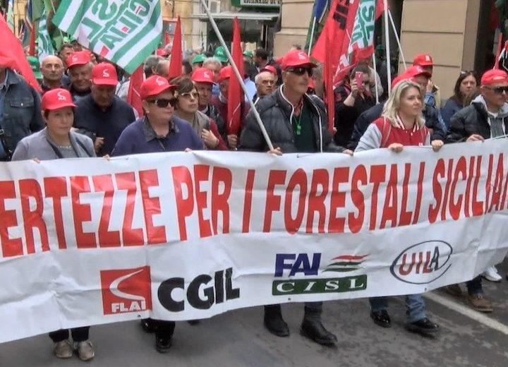 protesta forestali Sicilia