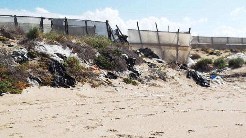 plastica sul litorale dei Macconi