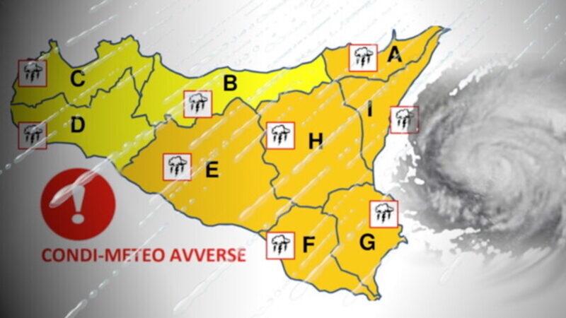 Ciclone su Sicilia orientale: danni alle strade e aziende agricole isolate